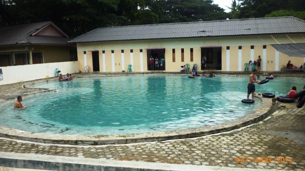 Kolam Utama kedalaman 150cm Pemandian Air panas Way Belerang Kalianda Lampung Selatan