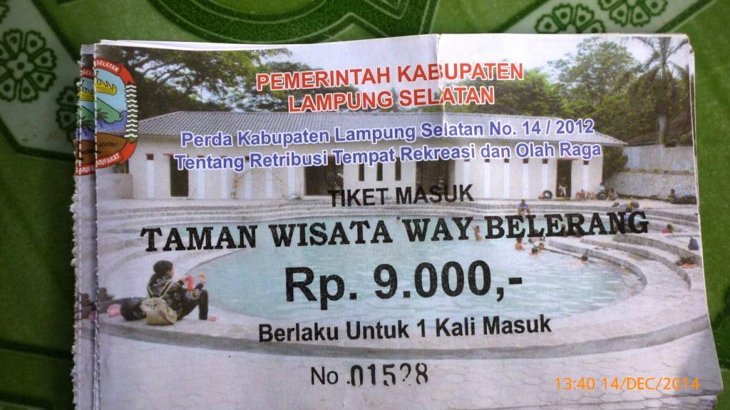 Harga Tiket MAsuk Pemandian Air Panas Way Belerang Kalianda Lampung Selatan