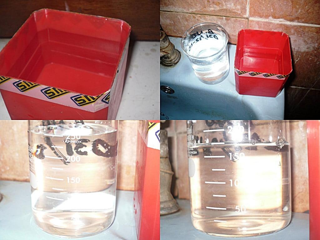 Air terbuang 0,425 liter/menit