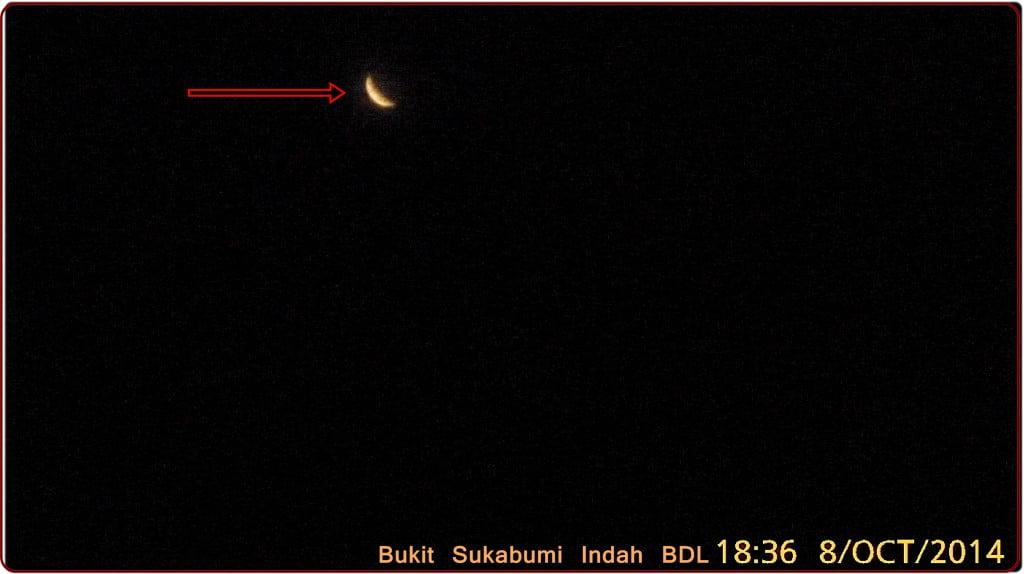 Sisa-sisa Gerhana Bulan Total 8 Oktober 2014 lokasi bandar Lampung.jpg